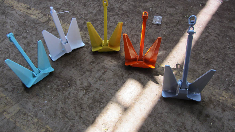Hot Dip Galvanized and colored, hot powder painted anchors